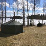 JSP-teltta ja saunateltta pakettina