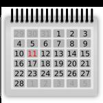 calendar, february, eleven